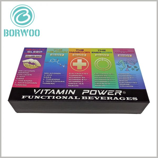 custom food boxes for beverage packaging. CMYK printing and other printing processes, improve the content of the package of richness and appeal.