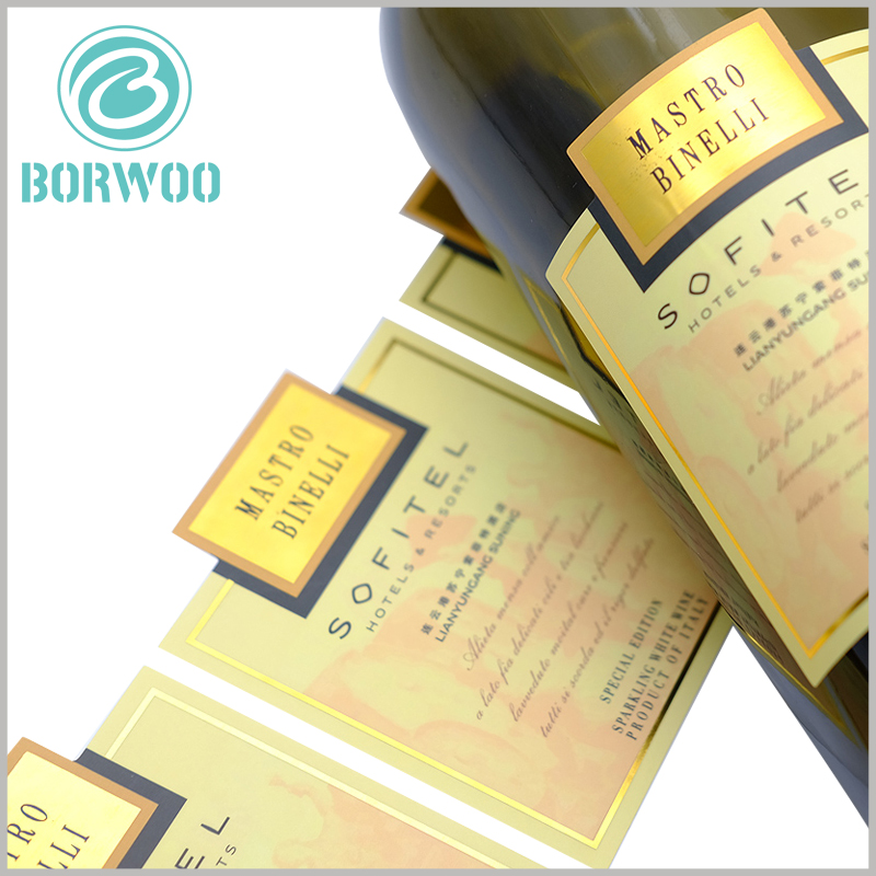 custom label for wine bottles.Custom printed labels are very sticky, easy to use, but can change the monotony and dullness of the wine bottle