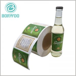 custom labels for beer bottles.The length and width of the beer bottle label can be customized, which can completely match the capacity and size of the bottle.