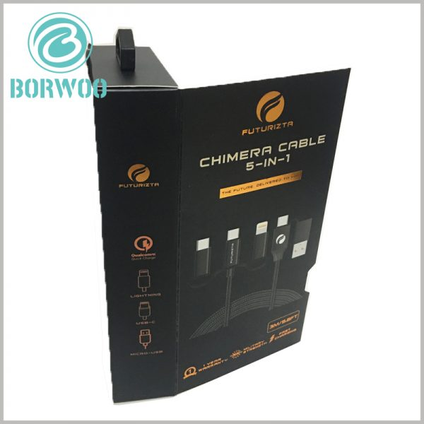 custom packaging for 5 in 1 chimera cable. Customizable packaging is the best way to advertise products and brands, and it is cost-effective.