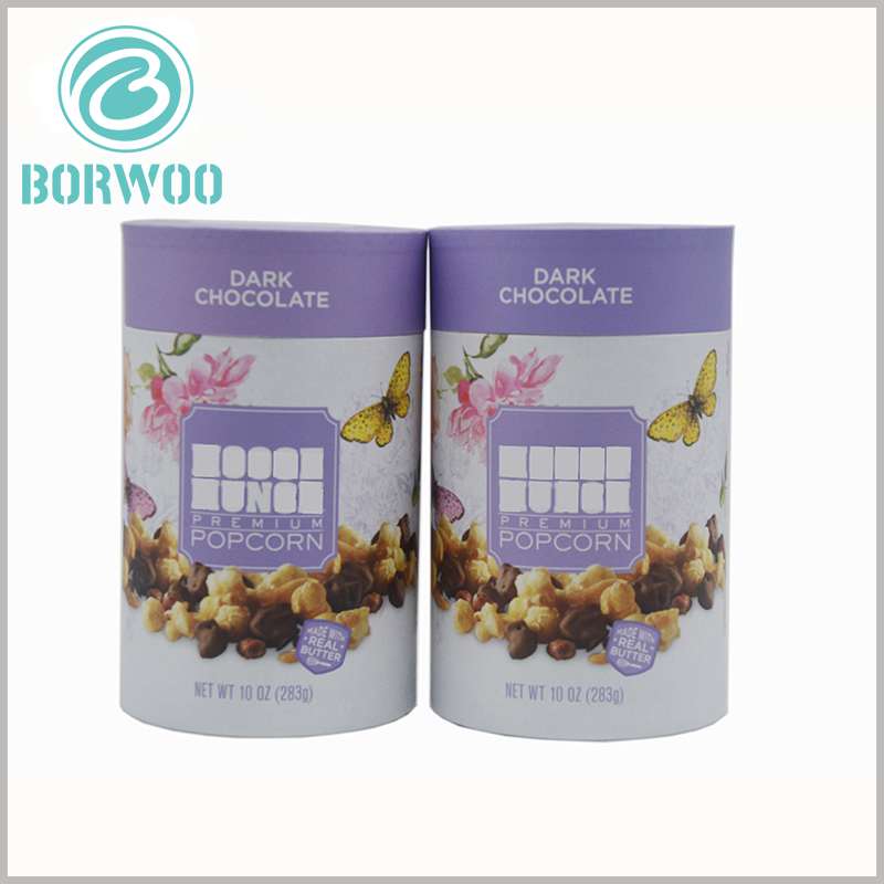 custom paper tube for 10 oz chocolate packaging boxes. Printing the brand name on the body part of food-grade paper tube packaging is one of the most effective ways to attract customers.