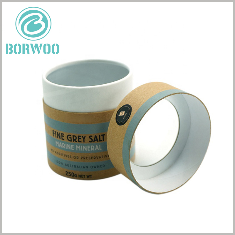 custom paper tube packaging with windows. Food grade paper tube packaging has aluminum foil on the inner wall of the tube, the main purpose is to dry the inside of the paper tube.