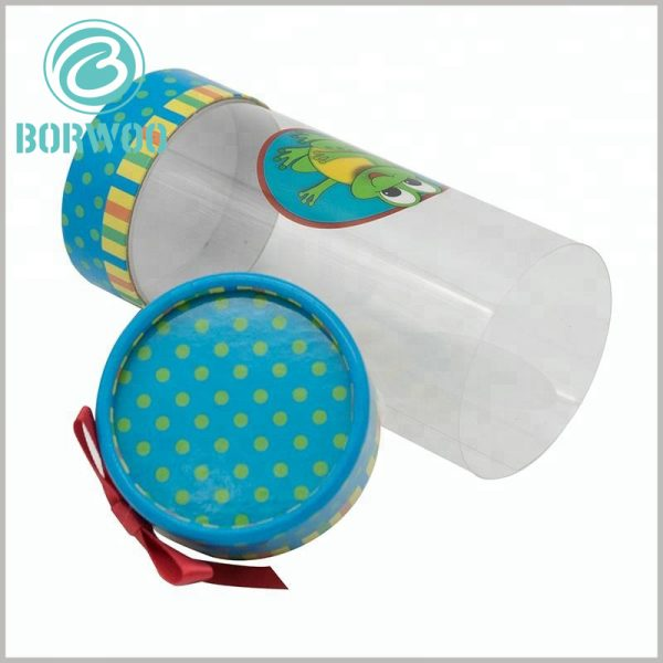 custom plastic tube gift boxes wholesale. Printed paper caps have artistic patterns, which will increase the attractiveness of packaging and products.