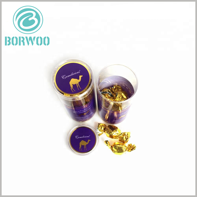 custom plastic tube packaging for candy. Hot stamping printing increases the luxury of packaging and is very helpful for the expression of product value.