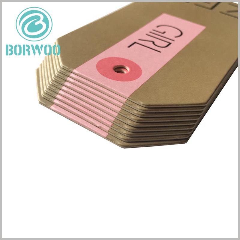 custom printable kraft paper hang tags wholesale