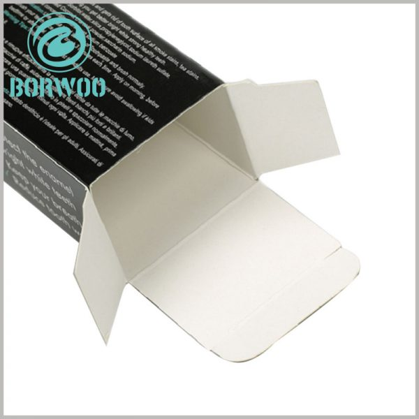 custom printable packaging for toothpaste box. The customized packaging is made of 350gsm single-powder paper as the raw material, which is easy to fold. Folding packaging is very helpful for reducing the packaging space.