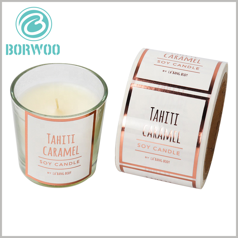 custom printalbe label for candles.Customized candle labels use light glue processing technology, which can improve the brightness of the label.