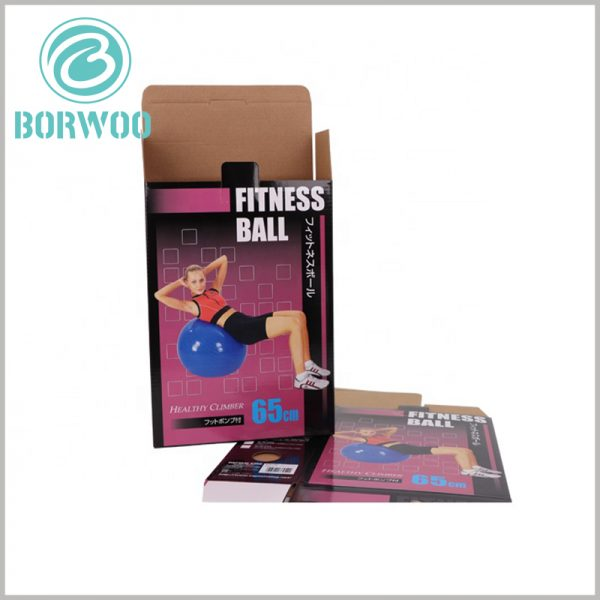 custom sports packaging for fitness ball.Customized packaging has specific printed content, such as product styles and instructions, and sports packaging will play the role of product salesman.