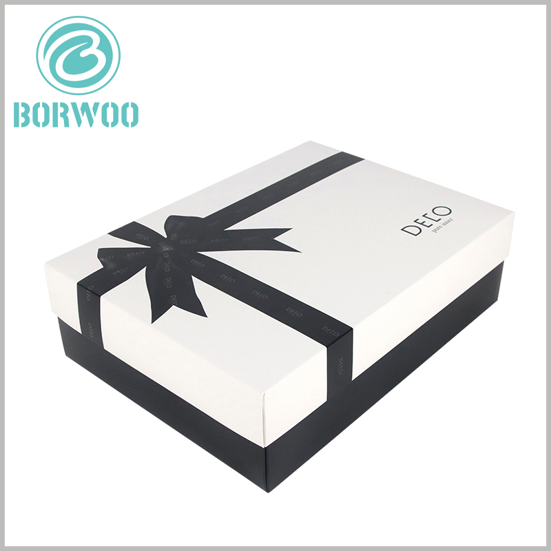 custom white large gift boxes with lids. The customized packaging of large cardboard boxes has a variety of uses and can be used for shirt dress packaging.