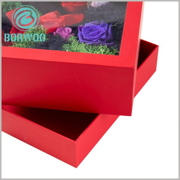 flower packaging boxes with windows wholesale. The high-quality soaring materials make the value of packaging more manifest.