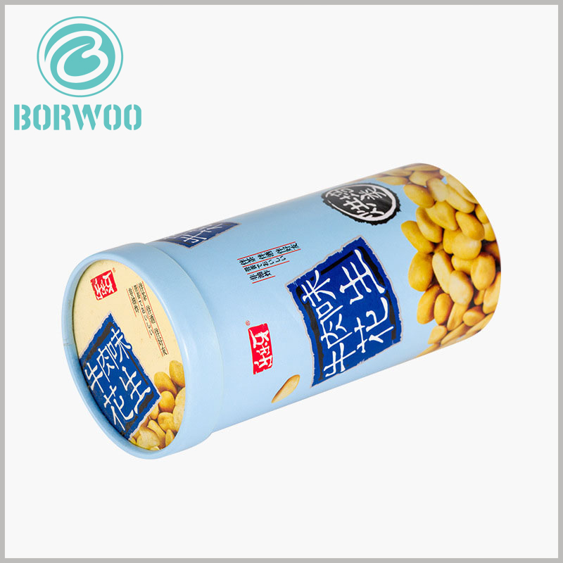 food grade tube for peanut packaging. Printing food patterns on the surface of the paper tube can stimulate consumers' vision and make them desire to buy and taste food.