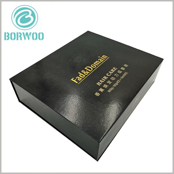 hair care product packaging boxes wholesale. Through the stamped text, we can quickly understand the type and quantity of products inside the package.