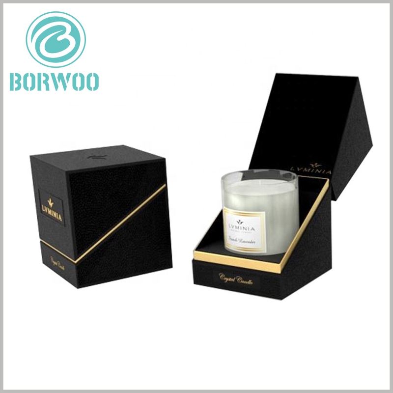 high-end black candle jar packaging boxes wholesale. High-end customized packaging is more conducive to shaping a high-value brand image and gaining more potential competitive advantages for products and brands.
