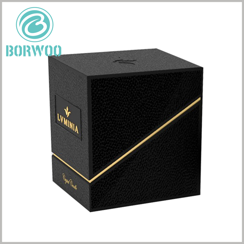 high-end black candle packaging boxes wholesale. The difference of customized packaging design can better distinguish products and reflect the characteristics of products.