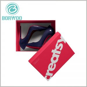 high-heeled shoes packaging box custom. Large corrugated carton packaging and printing brand-related information can give more potential value to high-heeled shoes and help the brand win customer recognition.