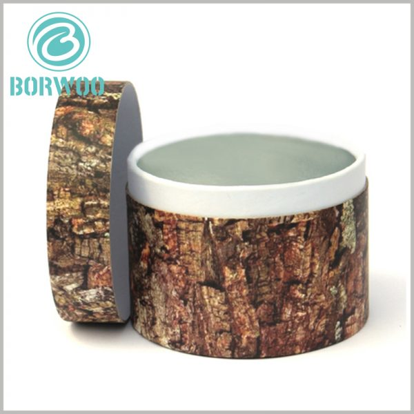 imitation wood cardboard tube packaging. Custom tube packaging has great advantages. CMYK makes product packaging unique and attractive.