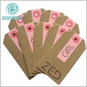 kraft paper hang tags wholesale