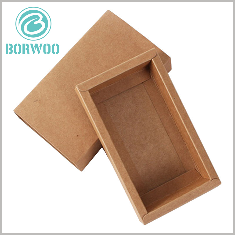 kraft paper packaging boxes wholesale. High-quality kraft paper is used as the raw material of packaging to improve the quality of packaging.