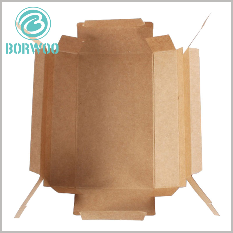 kraft paper packaging wholeale. Kraft paper boxes are foldable and can be printed with specific content to reflect product differentiation.