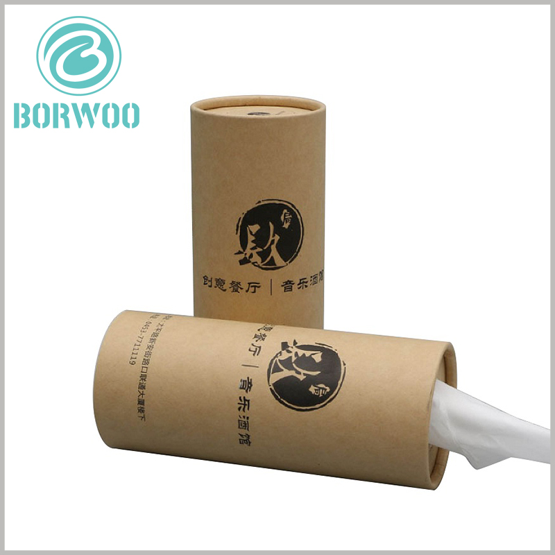 kraft paper tube for Paper towel packaging. Customized paper tube packaging is used for paper towels, and the product features, other information, and other brand products are distinguished by printed content.