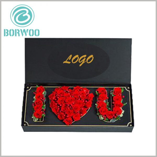 high-end lover flower gift boxes with logo