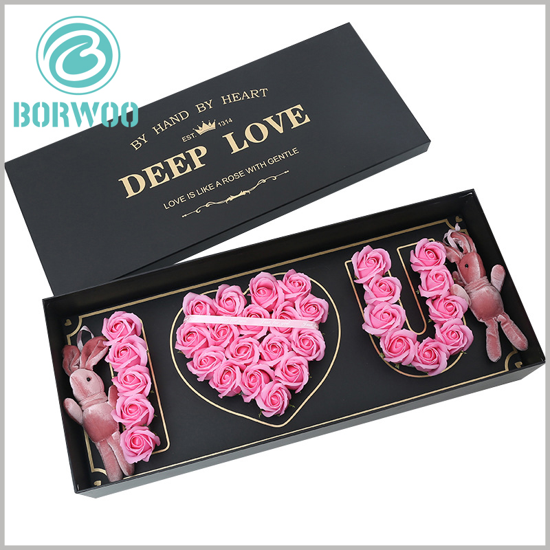 lover flower gift boxes with logo wholesale