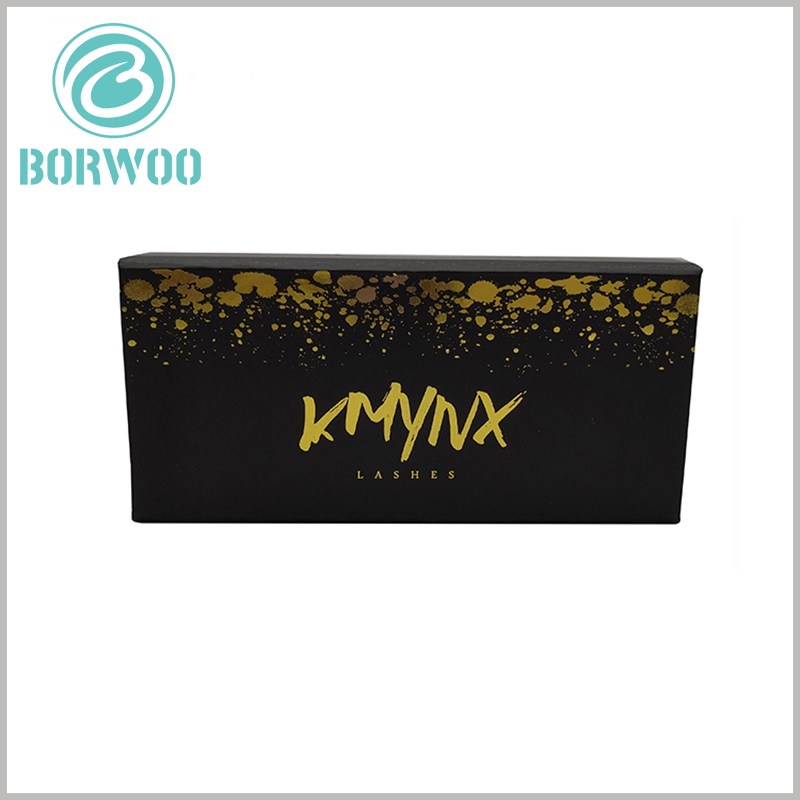 luxury black gift boxes for eyelash packaging. Customize empty eyelash boxes, you can customize the brand name, logo, and strengthen the brand building of the product.