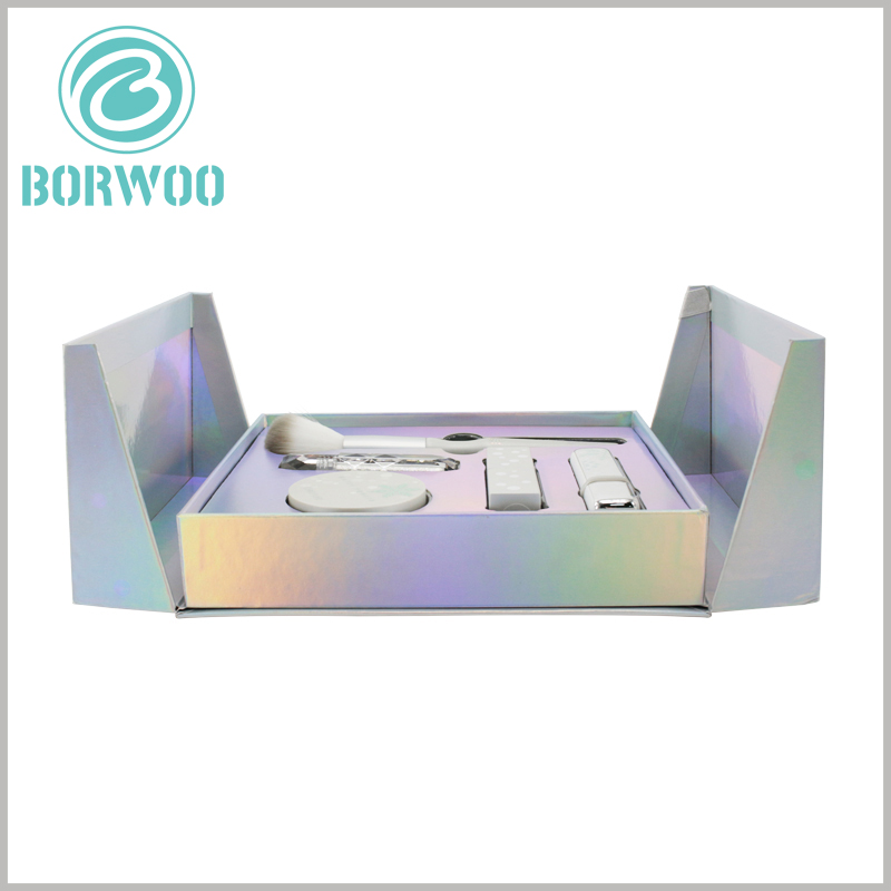 luxury cosmetic gift boxes with insert wholesale. Customizable hard cardboard gift boxes packaging, specific packaging design and printed content can promote specific products and brands.