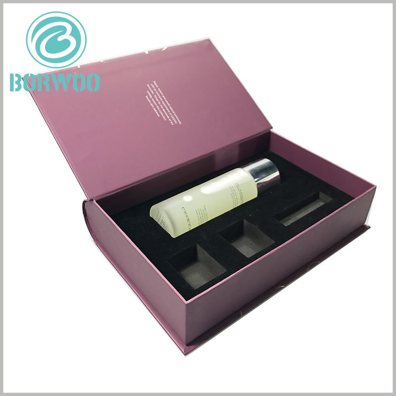 luxury packaging for skin care products set. The internal structure and size of the package are fully customizable, so different types of skin care products can be completely embedded in EVA.