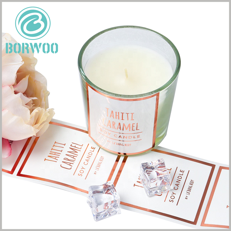 printalbe label for candles jars.Customized candle jar labels can be customized, using printed content to reflect the brand value of the product.