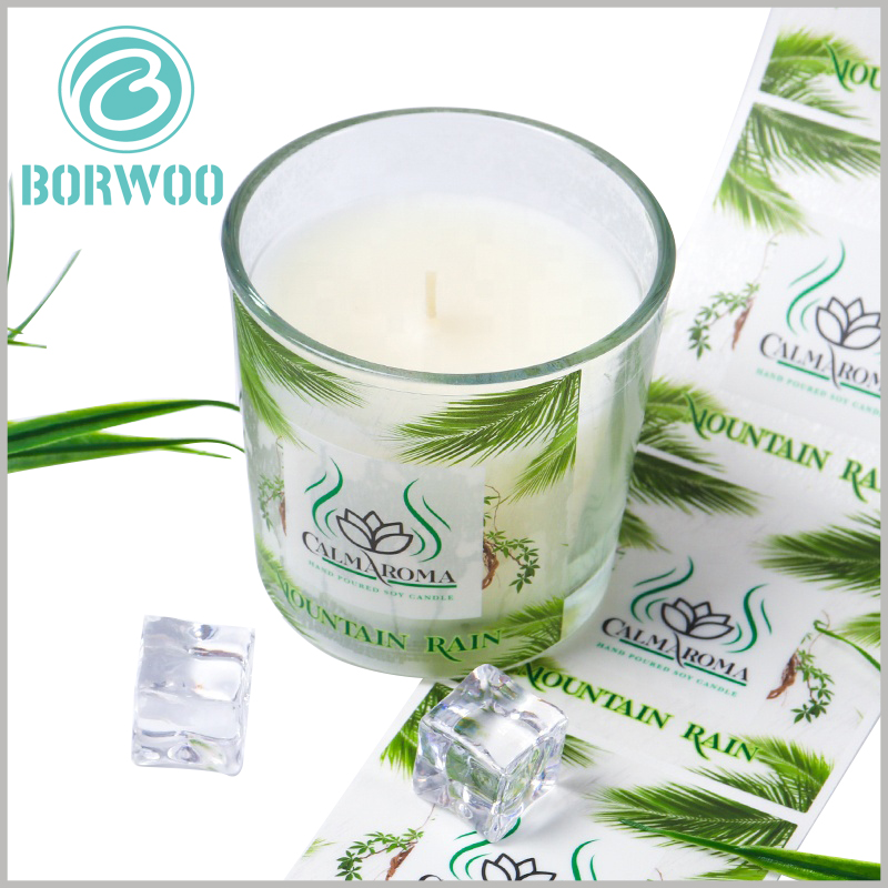 printalbe plastic label for candles.The customized candle label has high adhesiveness and can be tightly combined with the glass jar container without air bubbles.