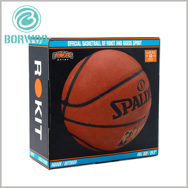 printed corrugated packaging for basketball. Custom corrugated paper packaging is one of the options for sports product packaging, which can protect and promote products well.