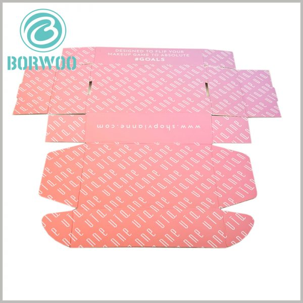 printed corrugated packaging template. The material of corrugated paper packaging can be folded and bent, so the characteristics of folding packaging can be used to reduce the space occupation of packaging.