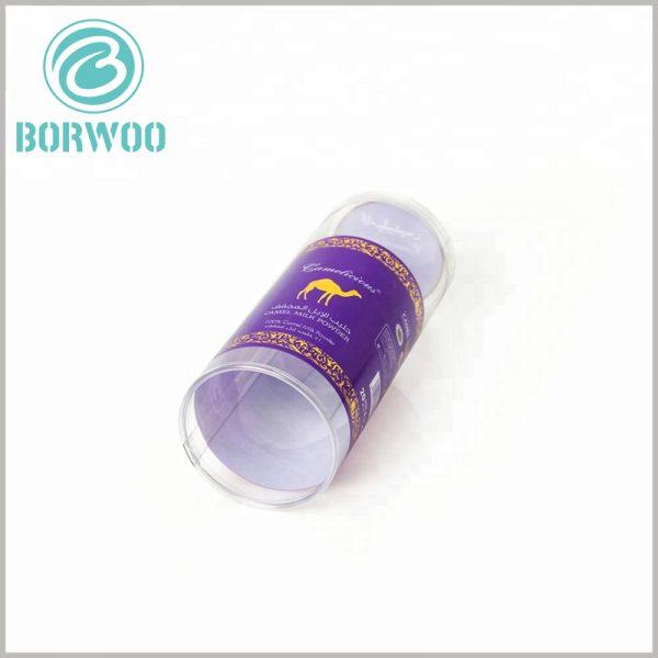 printed plastic tube packaging boxes. Customized plastic packaging can print content to promote confectionery food.
