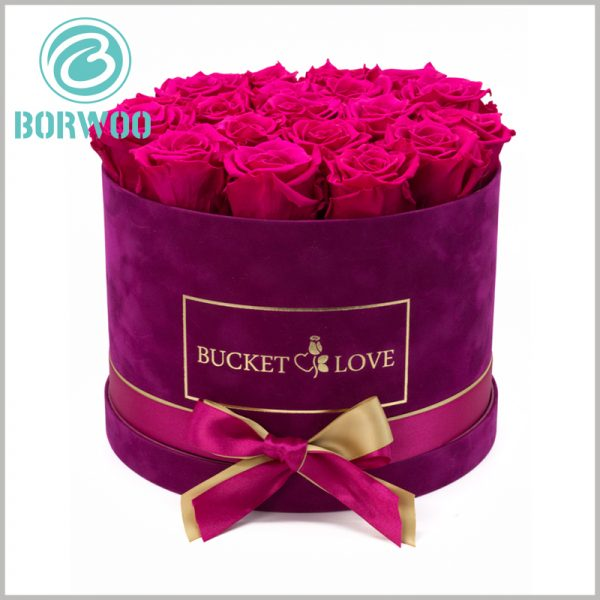 round gift boxes with lids for flower packaging. The packaging design of customized gift boxes is closely related to the product and has a great effect on product promotion.