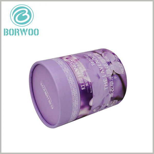 skin care product tube packaging. The mask packaging is in the form of large cardboard round boxes. The brand name or logo can be printed on the top of the paper tube cover for brand building.