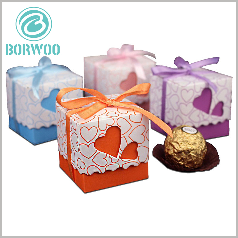 small chocolate gift boxes packaging. The packaging design of square chocolate boxes is artistic, which increases the attractiveness and value of the packaging.
