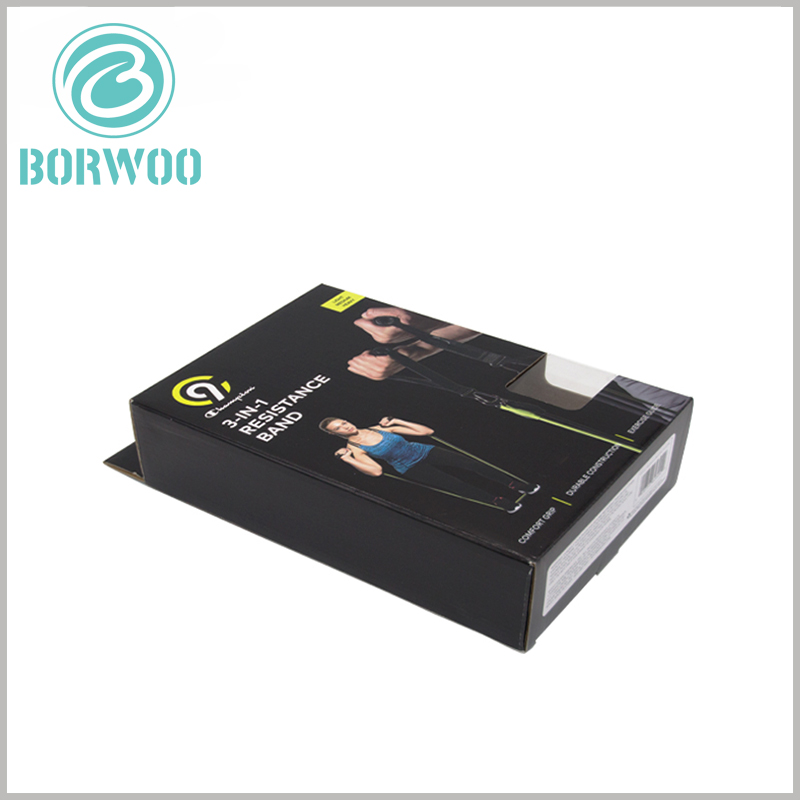 sports resistance band packaging wholesale. Set up transparent windows on the edge of the customized packaging to directly display some products to enhance the attractiveness of the products.