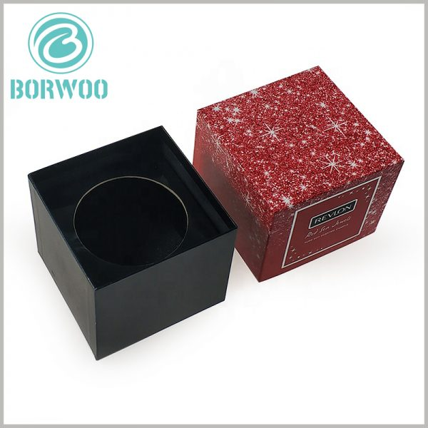 square cardboard candle boxes packaging. As the main pattern of candle packaging design, the starry sky has a very high artistic quality and attracts customers' visual attention.