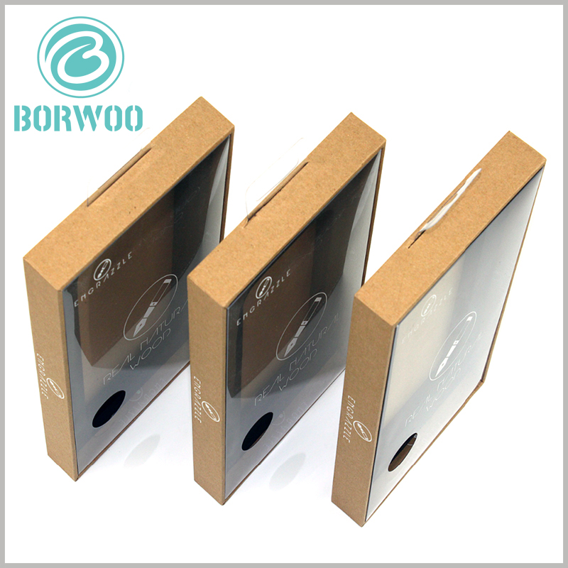 tempered glass screen protector packaging boxes with windows. A round transparent hole is designed on the PVC window to balance the air pressure inside and outside the package. It is very easy to open the package