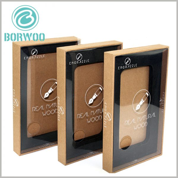 tempered glass screen protector packaging boxes. The lid of the customized packaging is entirely made of transparent PVC film as the raw material, which improves the visibility of the packaging