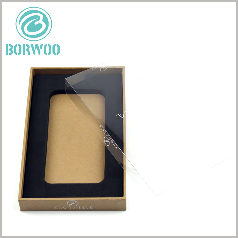 tempered glass screen protector packaging boxes wholesale. Custom kraft paper packaging uses a square box as the packaging structure, and high-end packaging can better reflect the product value