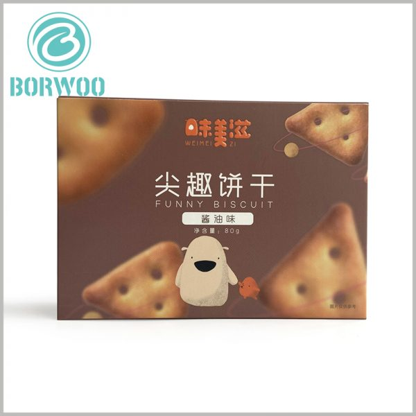 zipper open cardboard food package for cookies
